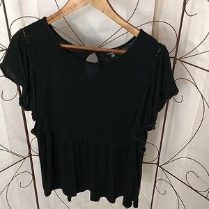 ...rxb Black Ruffled Shirt
